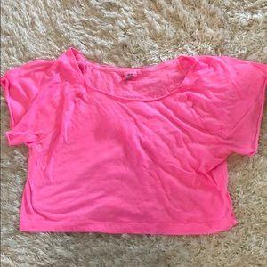 VS Pink Neon Pink Crop Top